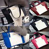 Girls Ladies Womens Leather Style Shopper Tote Hobo Black Shoulder Bag Handbag