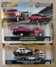 Hot Wheels Team Transport VW Baja Bug Wide Open & 1968 Dodge Dart Race Rig Lot 2