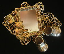 Baby Photo Frame Pin Brooch Bear Cup Shoes 24kt Gold Pl