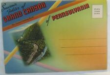 Vintage Postcard Souvenir Folder Grand Canyon Of Pennsylvania