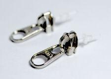 3D Rock Silver Tone Punk Zip Zipper Stud Earrings Men Lady Funny Fashion Jewelry