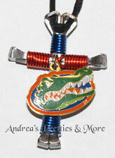 Disciple's Cross Horseshoe Nail Necklace - Wire Wrapped Cross - Fl Gators Logo