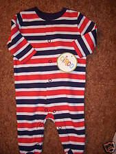 Nwt Circo Y/D Stripe Sleep N Play 3M Navy/Red/White New