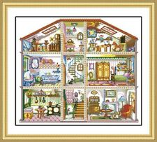 """""""my home""""counted cross stitch kits"""