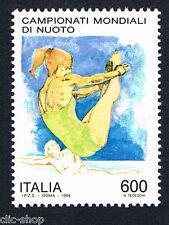 ITALIA 1 FRANCOBOLLO CAMPIONATI MONDIALI DI NUOTO TUFFATRICE 1994 nuovo**