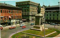 Vintage Postcard - 1960's Monument Square Landmark Portland Maine ME #4715