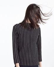 ZARA sz S (or 10 / 6 us ) womens Striped sweater jumper [#2889]