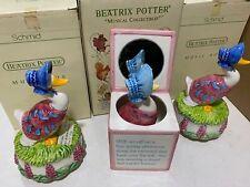 New ListingVtg 3pc Beatrix Potter Puddle Duck Schmid Musical Collectibles Music Boxes