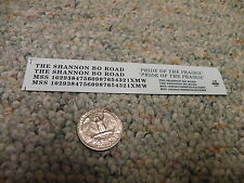 Herald King decals HO The Shannon Bo Road black  XX325