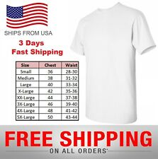 White Plain Cotton T-Shirt Short Sleeve Solid Blank Design Tee Men Tshirt round
