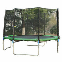Aosom 12' Round Trampoline Enclosure Bounce Safety Net Frence Replacement