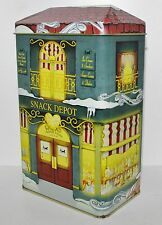 """Ashdon Farms SNACK DEPOT Candy Nut Ice Cream Shop Store Tin #3 Box Container 8""""t"""
