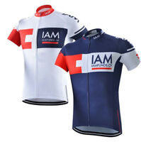 IAM Swiss Team Cycling Jersey Retro Road Pro Clothing MTB Short Sleeve Bike
