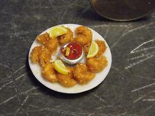 Dollhouse Miniature Food Fried Shrimp Plate A 1:12 inch scale Y37 Dollys Gallery
