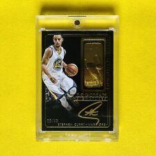 2014-15 Stephen Curry National Treasures Logoman Signatures Gold Ink Auto 9/49