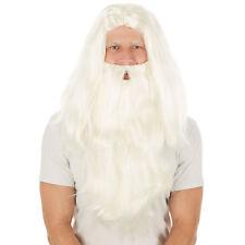 Perücke Weihnachtsmann + Bart Nikolaus Santa Claus Zauberer Fasnacht Halloween
