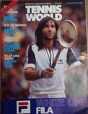 'Tennis World' UK Magazine Jan/Feb 1981-Ilie Nastase-A3 Poster Adriano Panatta