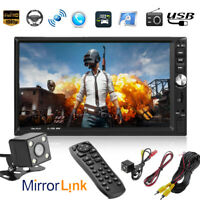 "7"" Touch Screen Car Stereo MP5 Player Bluetooth FM Radio Head Unit w/Rear Camera"