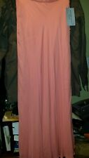 Adrianna Papell Occasions Long Maxi peach Crepe Bias Formal Skirt sz 6 new silk