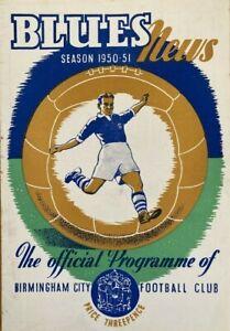 Birmingham City v Manchester City  Div 2  1950/51
