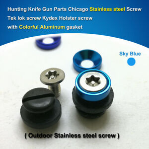 """0.29""""(7.5mm) colorful SUS304 TORX Screws knife scabbard screw Kydex Holster"""