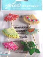 Scrapbooking Crafts Stickers Jolee's Drink Umbrellas Straw Tropical Oriental