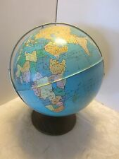 "VINTAGE ALL METAL 11.5"" WORLD GLOBE Bryan OHIO ART USA 1950's Mid century"