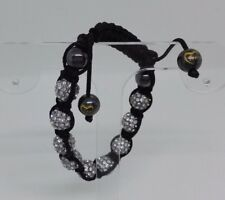 Genuine Tresor Paris Shamballa Bracelet Nine Crystals Signed. Designer Jewellery