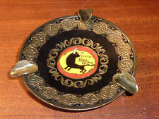 ancien CENDRIER BARCELONA SPAIN camping toro bravo ASHTRAY espagne VINTAGE METAL