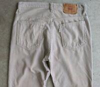Vintage 1981 Levi's Beige Corduroy Pants Talon Zipper sz 32
