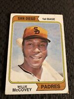 1974 Topps Willie Mccovey #250 Vintage Baseball Card Centered. San Diego Padres.