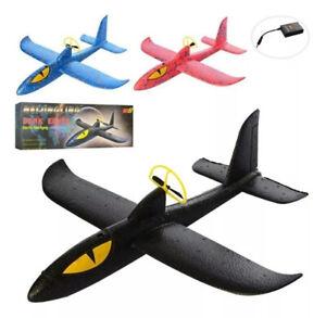 Wurfgleiter Gleitflieger Segelflugzeug Styropor Flugzeug mit Motorantrieb