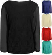 Clubwear Long Sleeve Machine Washable Plus Size Tops & Blouses for Women