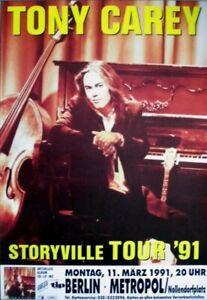CAREY, TONY - RAINBOW - ZED YARGO - 1991 - Konzertplakat - Touposter - Berlin