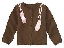 Gymboree Winter Ballerina Ballet Slipper Brown Sweater / Cardigan Large 10 11 12