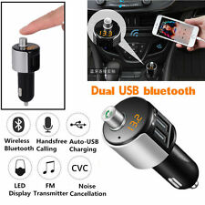 1pc Car Bluetooth FM Transmitter Wireless Radio Adapter USB Charger MP3 Player