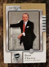 2006/07  Upper Deck GOLD The Cup DON CHERRY Bruins #/25  13/25