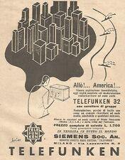 W4008 Radio Telefunken 32 - Pubblicità del 1930 - Vintage advertising