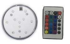 Waterproof 10 LED RGB Submersible Led Light Vase Tank Party Decor + Remote