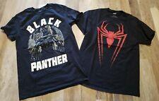Marvel Black Panther Spiderman Black Shirt Lot Mens Medium