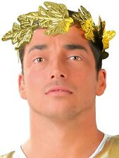 Mens Roman Julius Caesar Gold Leaf Crown Headdress Fancy Dress Costume Hat