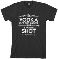 Threadrock Men's Vodka Isn't the Answer T-shirt Funny Drinking