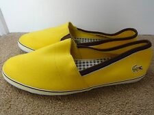 Lacoste Sport Aimard AP Sample mens shoes loafers Yellow uk 8 eu 42 us 9 NEW
