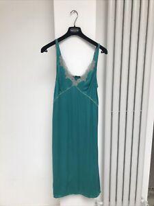 Elle Mcpherson Intimates Silk teal  Slip Dress size large