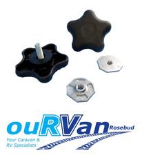 2 x Carefree awning brace locking knob with Backing Nut 200-34120 Caravan RV