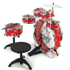Drum Set For Kids Unisex Drums Set Child Stool Musical Instruments Toddlers 11pc