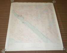 Fantastic, very large colored map of Juneau (1950) Scarce!