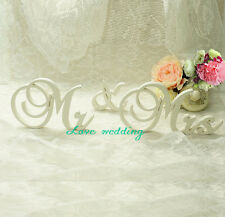 """7"""" tall White Wedding Sign Mr & Mrs, Wooden letters table decor Wedding gift"""