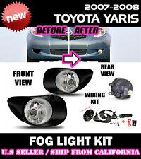 06-08 TOYOTA YARIS LIFTBACK Fog Lights Driving Lamp Kit w/ switch wiring (CLEAR)