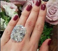 Fashion 925 Silver White Topaz Band Ring Women Proposal Wedding Jewelry Sz 6-10